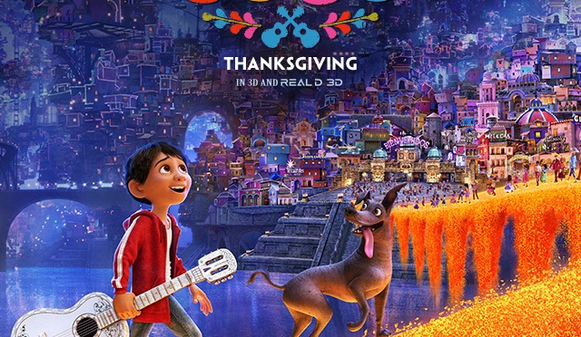 Disney-Pixar Movie 'COCO' In Theaters For ThanksGiving