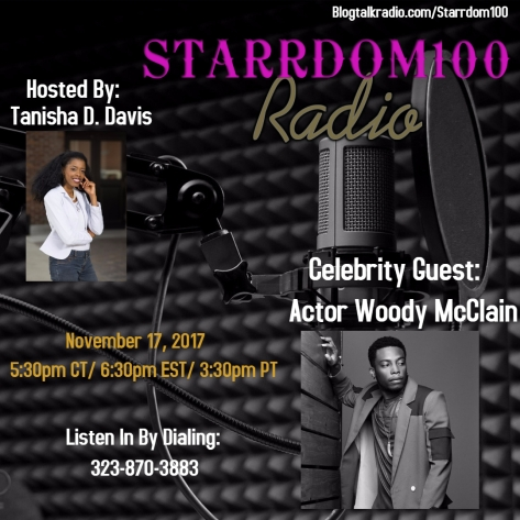 Woody McClain Interview Flyer