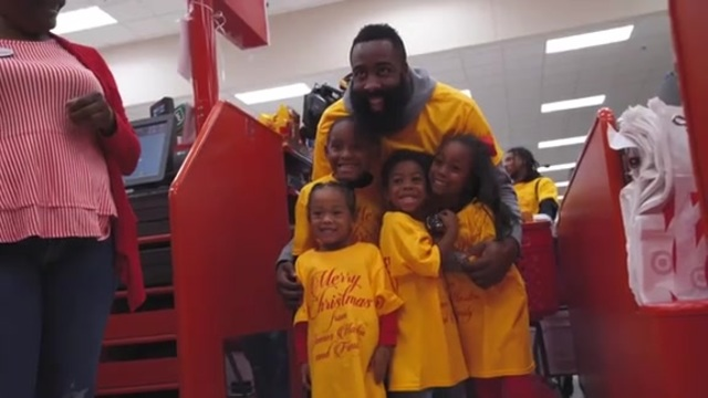 JAMES HARDEN TREATS 70 KIDS TO TARGET SHOPPING SPREE FOR THE CHRISTMAS HOLIDAY