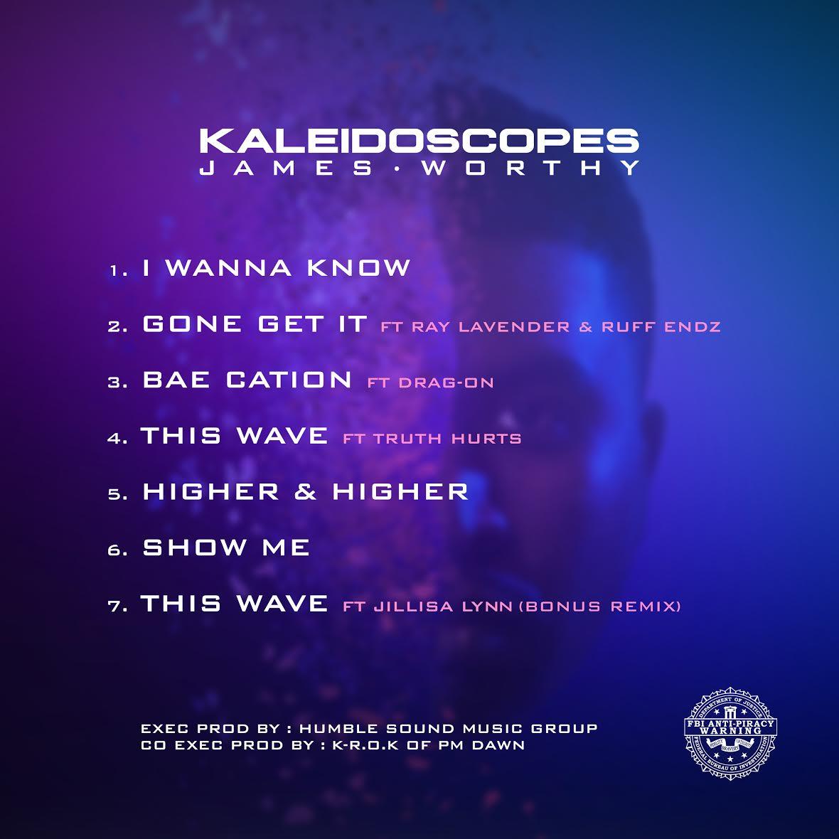 James Worthy - Kaleidoscopes EP (Back Cover)